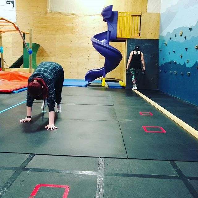 Momma+daughter work today during our Movement Exploration class. Love it when families move together! #moveyourbody #thebackyardwhidbey #mommaanddaughter #fitfam