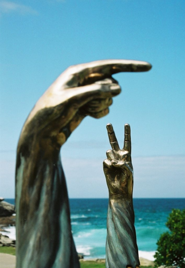 'Body Beautiful' (bronze; Sculpture by the Sea '07)