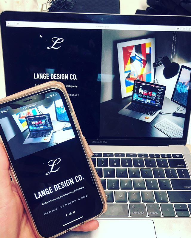 Website relaunch. Here to stay 👋🏼 www.langedesign.co/ . .  #langedesignco #website #launch #websitelaunch #mobilebrowser #desktopbrowser #graphicdesign #graphicdesigner #photography #brisbanegraphicdesigner #brisbanephotographer #macbookpro #iphonexr #squarespace