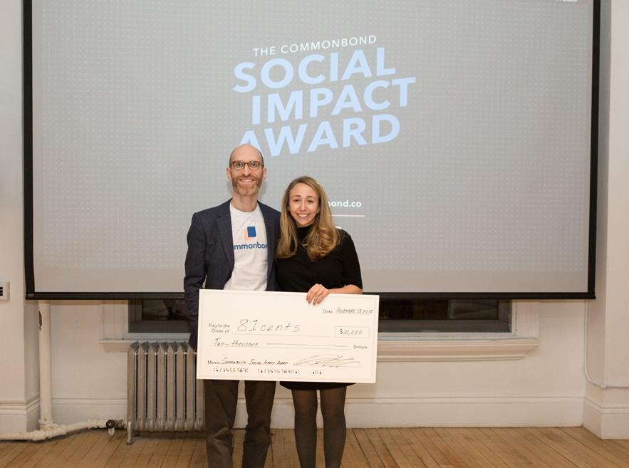 In November 2018 we won the CommonBond Social Impact Competition — and $10,000!