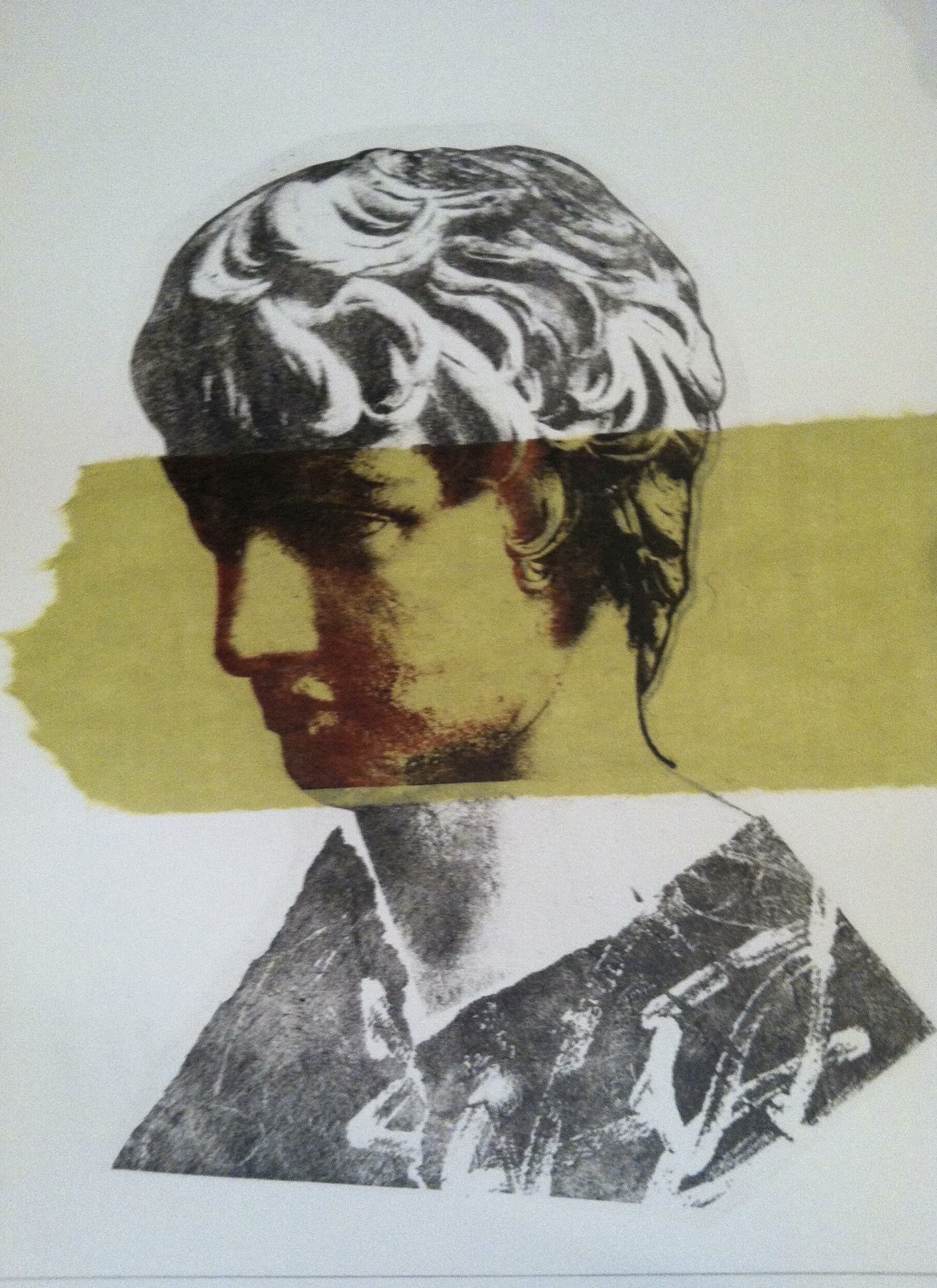 "Antinous II   Lithograph with Chine Colle  11""x14""   Sold"