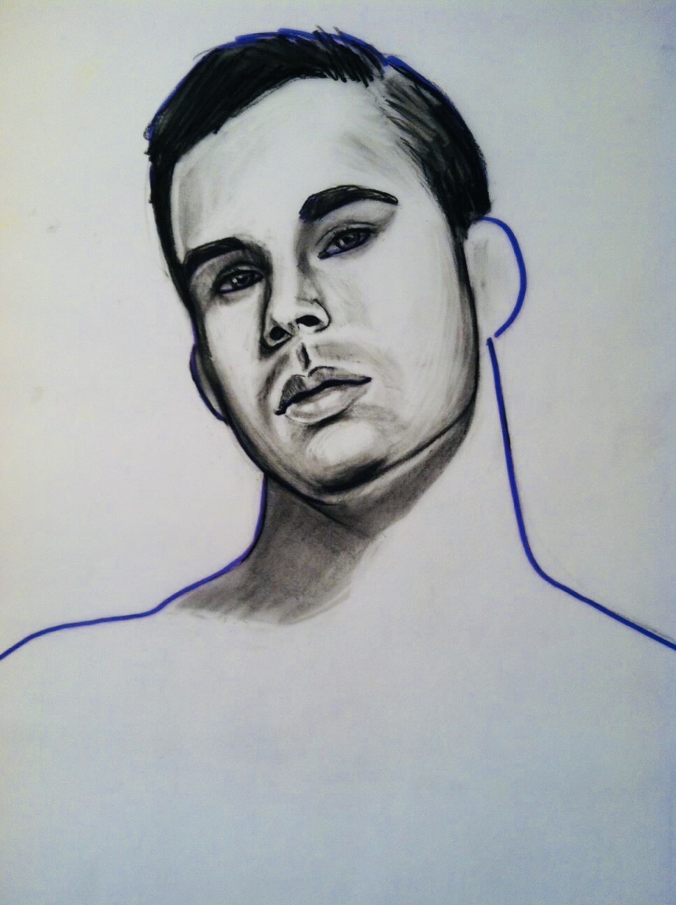 """Untitled 2    Charcoal and marker on vellum  16""""x20""""   Sold"""
