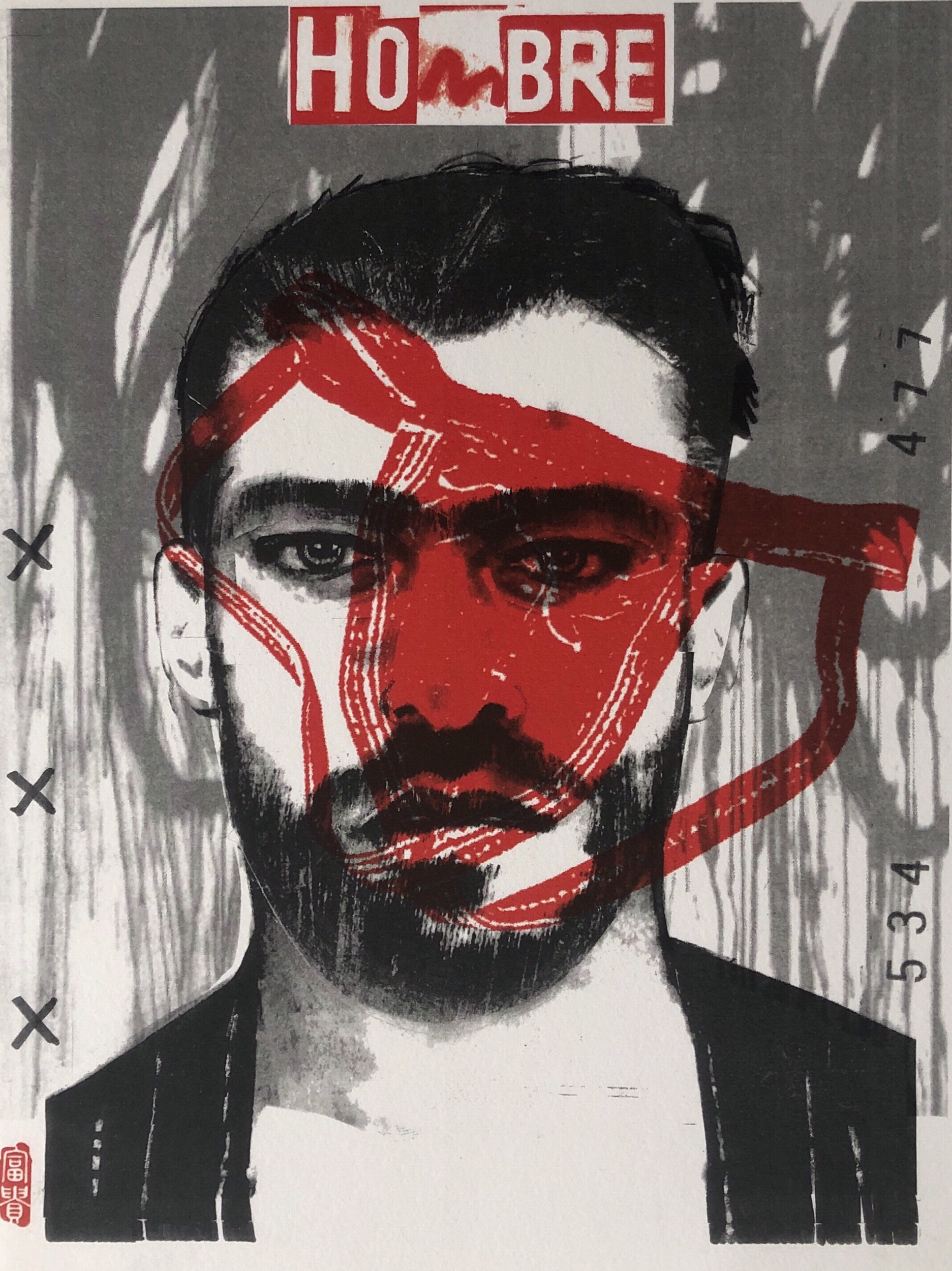 """Hombre I   Limited Edition lithograph (3)  9""""x12"""""""