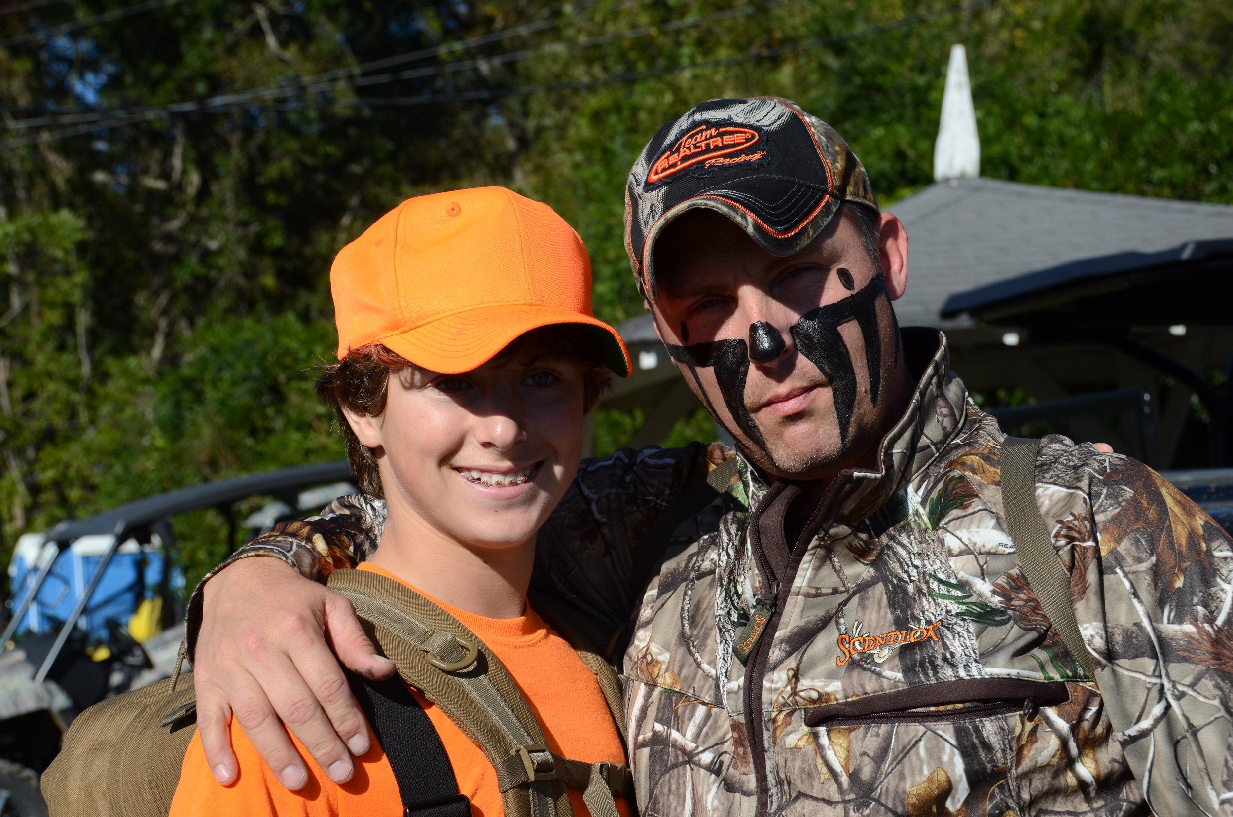 D7 9080 2017 Nov 10 Bo and Dak ready for hunt Iron Horse Farm near Marion AL.JPG