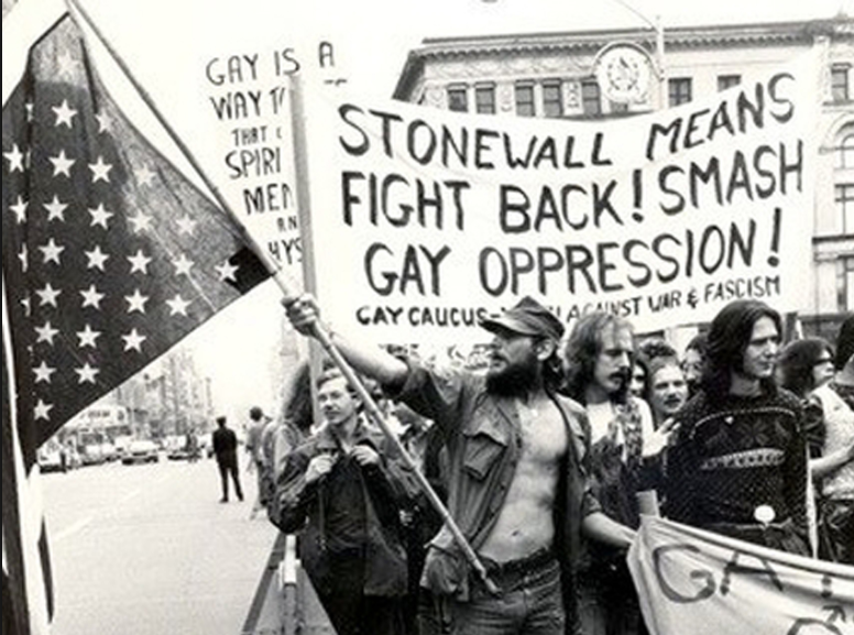 - On June 28, 1969, in a gay bar called the Stonewall Inn on Christopher Street in New York City, a police raid sparked rioting, in what became the genesis of the pride movement today.