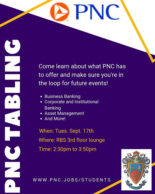 Interested in PNC? Interested in Delta Sigma Pi?? Come visit us on Tuesday, Sept 17th to learn more about what PNC does and meet some of our bro's 👔 #DeltaSigmaPi #PNC #RUNewark #RutgersBusinessSchool #ptbad