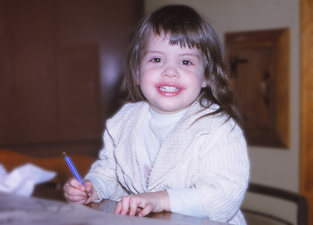 The designer at age 3.