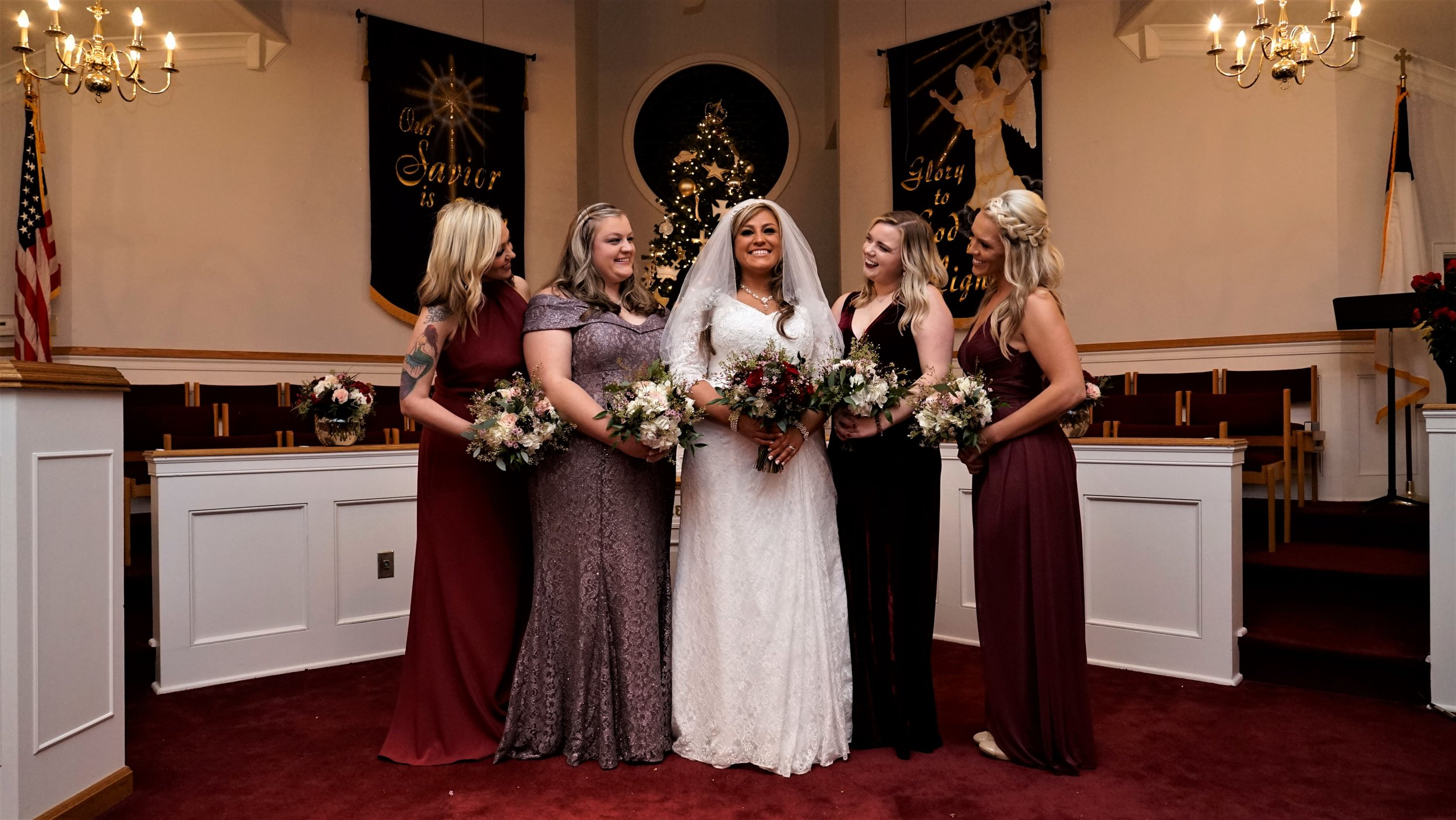 Mikala Lackey and her stunning Brides Maids