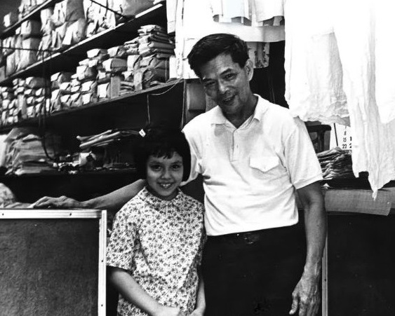 Young rosemary with her father in New york