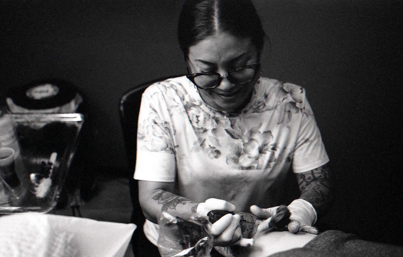 Female Tattoo Artist Austin TX | Fine Line & Script | Ceka Kitami ...