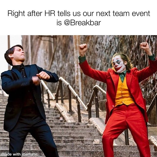 Come for the free drinks, stay for the smashing #teambonding  #teamevent #teamevents #teamworkmakesthedreamwork #workevent #workevents #afterwork #ilovemyboss #squadgoals #nycevents #nyceventplanner #hellskitchen #hudsonyards #midtown #madisonsquaregarden #msg #javitscenter #smashmemes #thebreakbar #breakbarnyc #thewreckingclub #thewreckingclubnyc