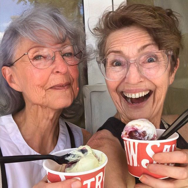 Getting in on the #faceapp fun — it's Oldie Parlour: Foodie & Fabulous. (Look at Brandi's sweet old lady face, you guys, my heart can barely handle it...) New episode tomorrow, btw!