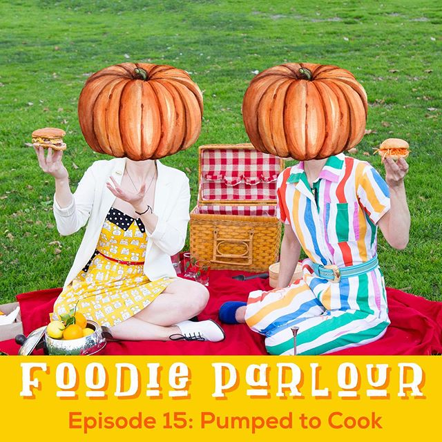 NEW EPISODE of @foodieparlour! We're stoked about the changing of the seasons and have fall recipes on the brain. Pumpkin, obviously, but also apples and other yummy stuff. Plus, is anyone else just really excited to be able to turn on their oven without sweating to death?! Listen up, and let's get pumped together...