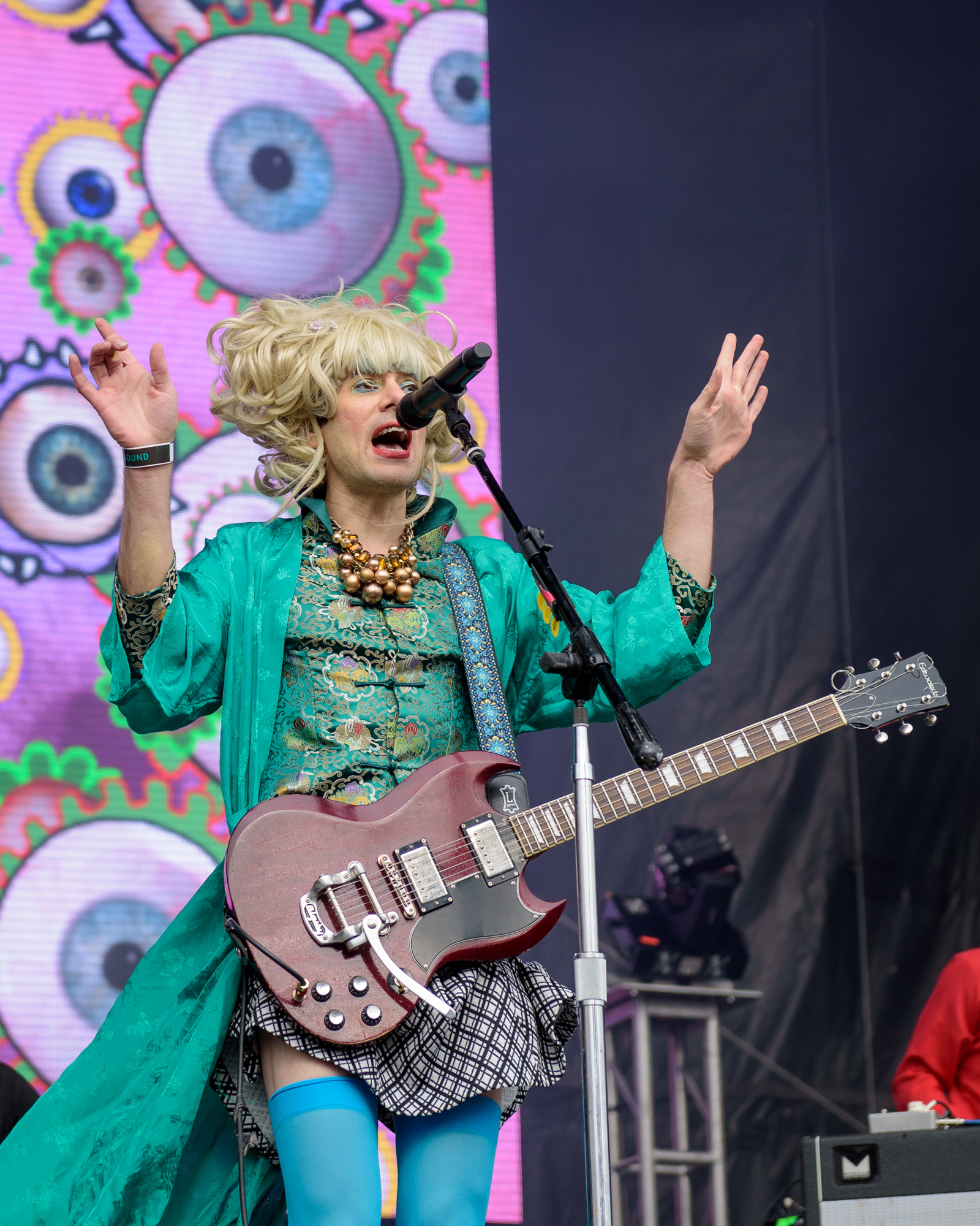 Of Montreal performs during Day for Night Music and Art Festival, Houston, TX. December 16, 2017
