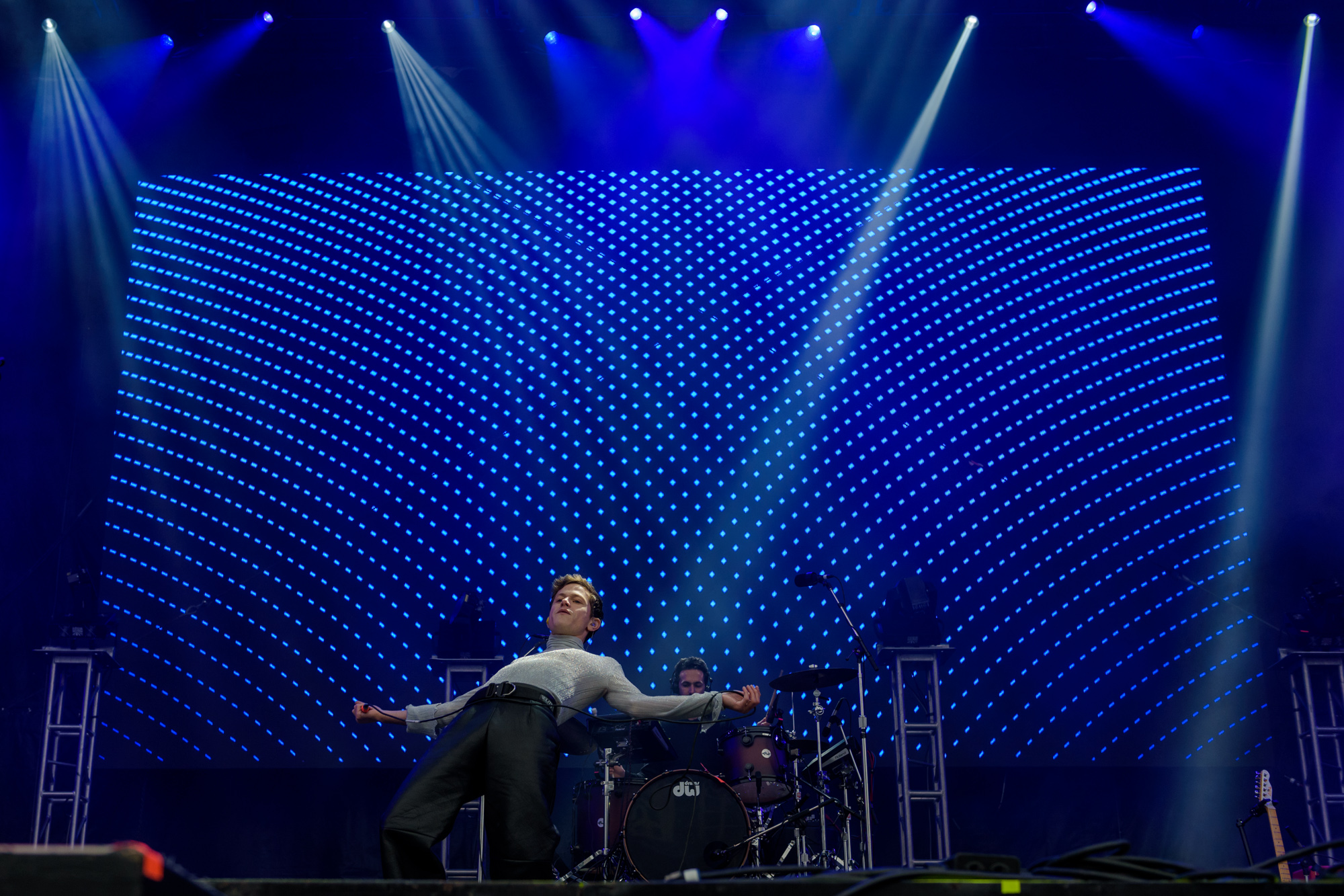 Perfume Genius performs during Day for Night Music and Art Festival, Houston, TX. December 16, 2017