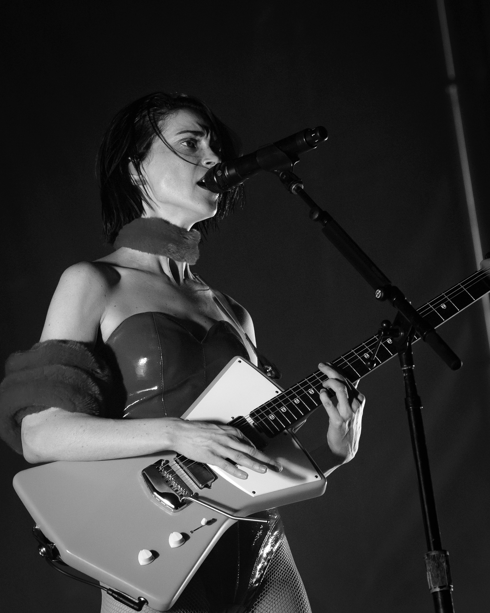St. Vincent performs during Day for Night Music and Art Festival, Houston, TX. December 17, 2017