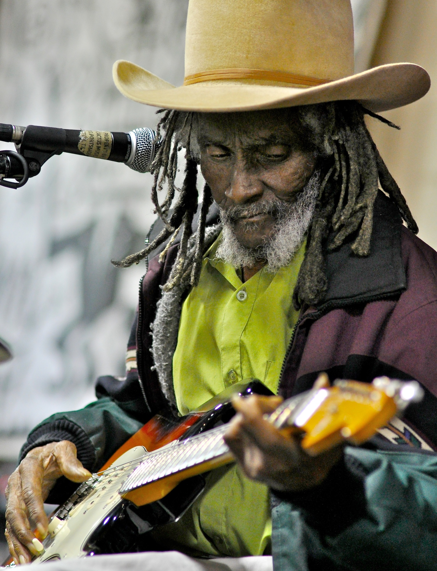 Little Joe Washington performs at Cactus Music. September 22, 2010