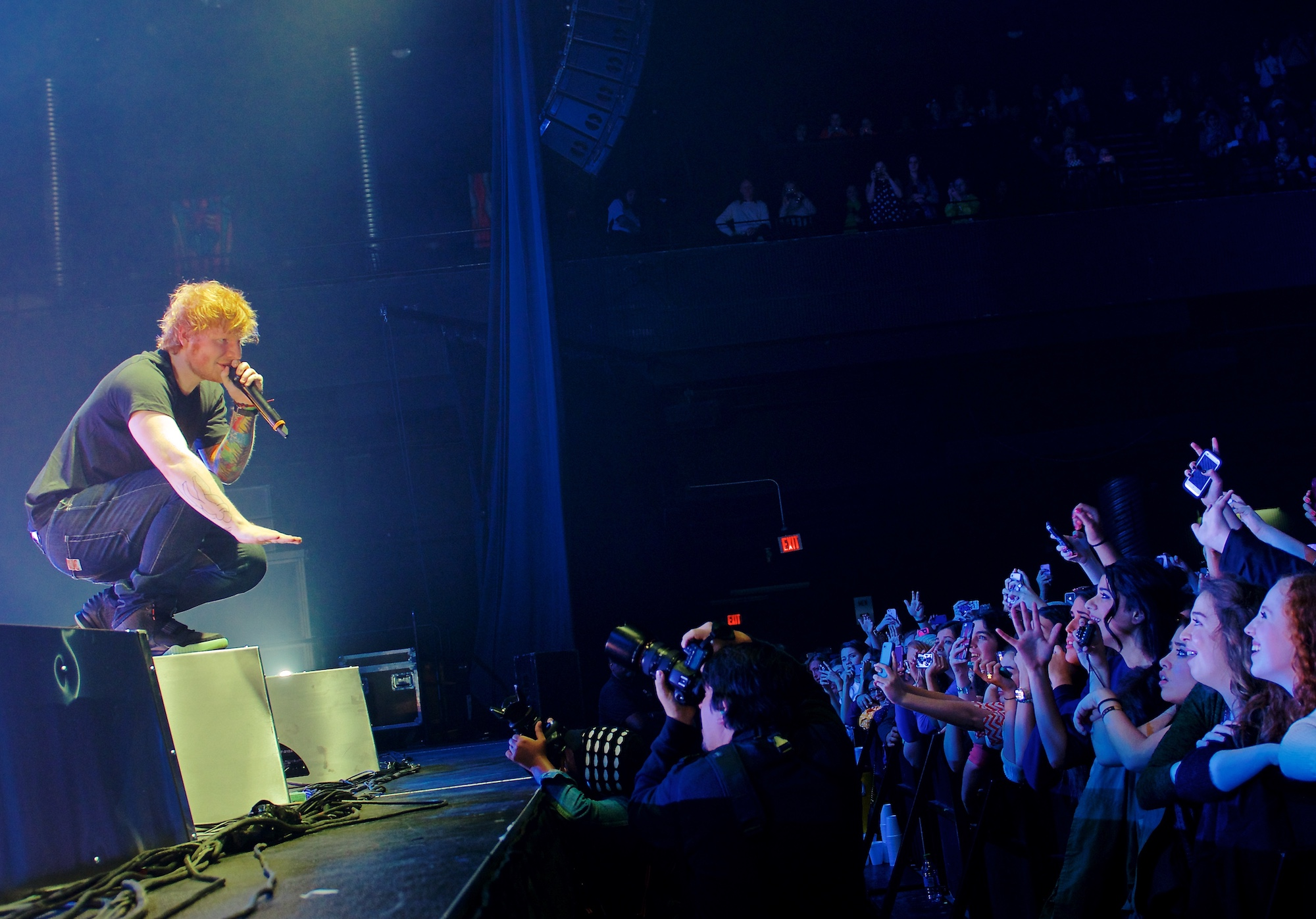 Ed Sheeran performs before a sold-out crowd at Bayou Music Center, Houston, TX. January 17, 2013