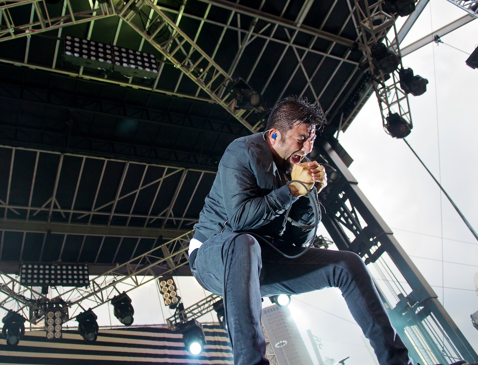 Chino Moreno performs with Deftones during Free Press Music Festival, Houston, TX. May 31, 2014