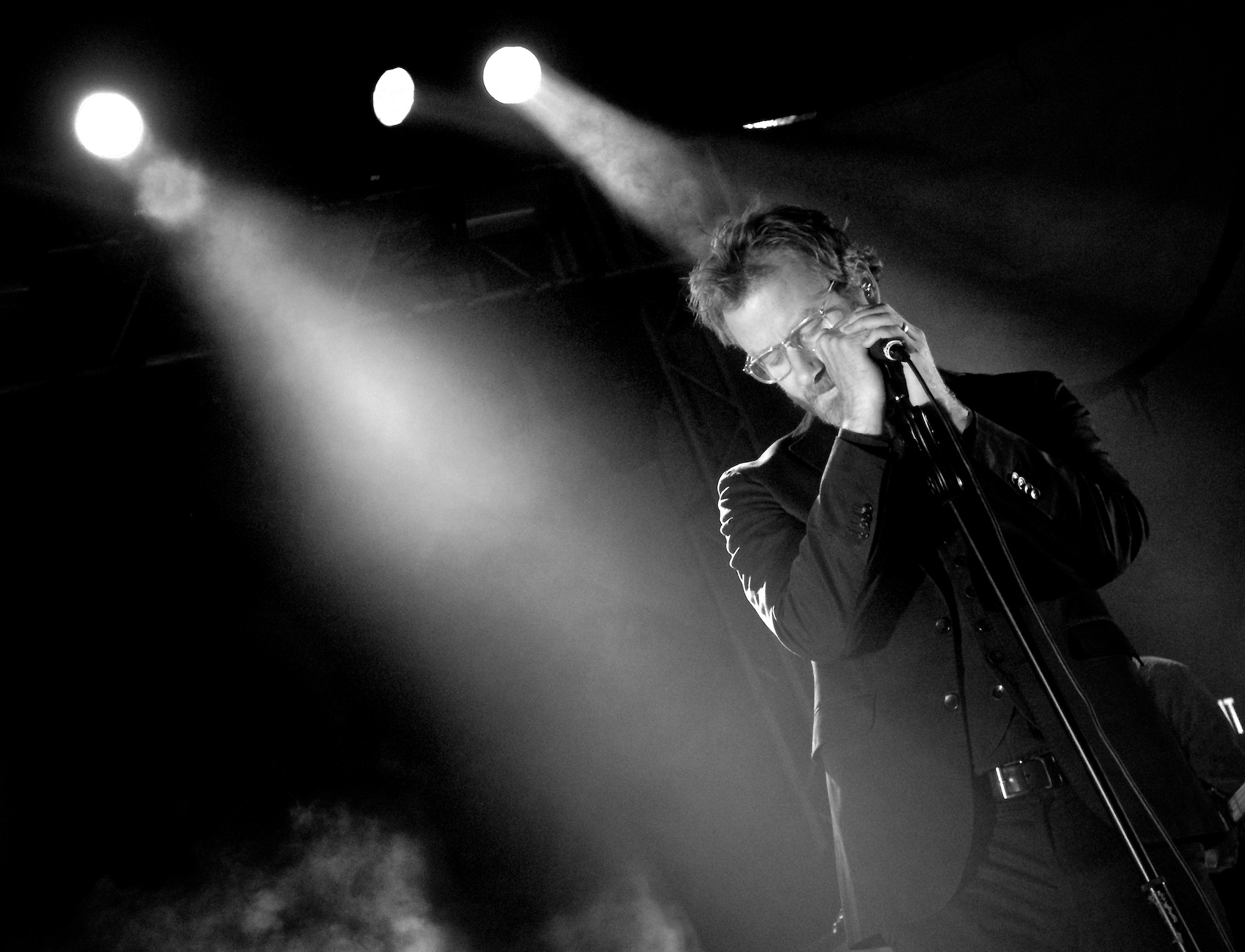 The National's Matt Berninger performs at Stubb's Austin, October 15, 2013