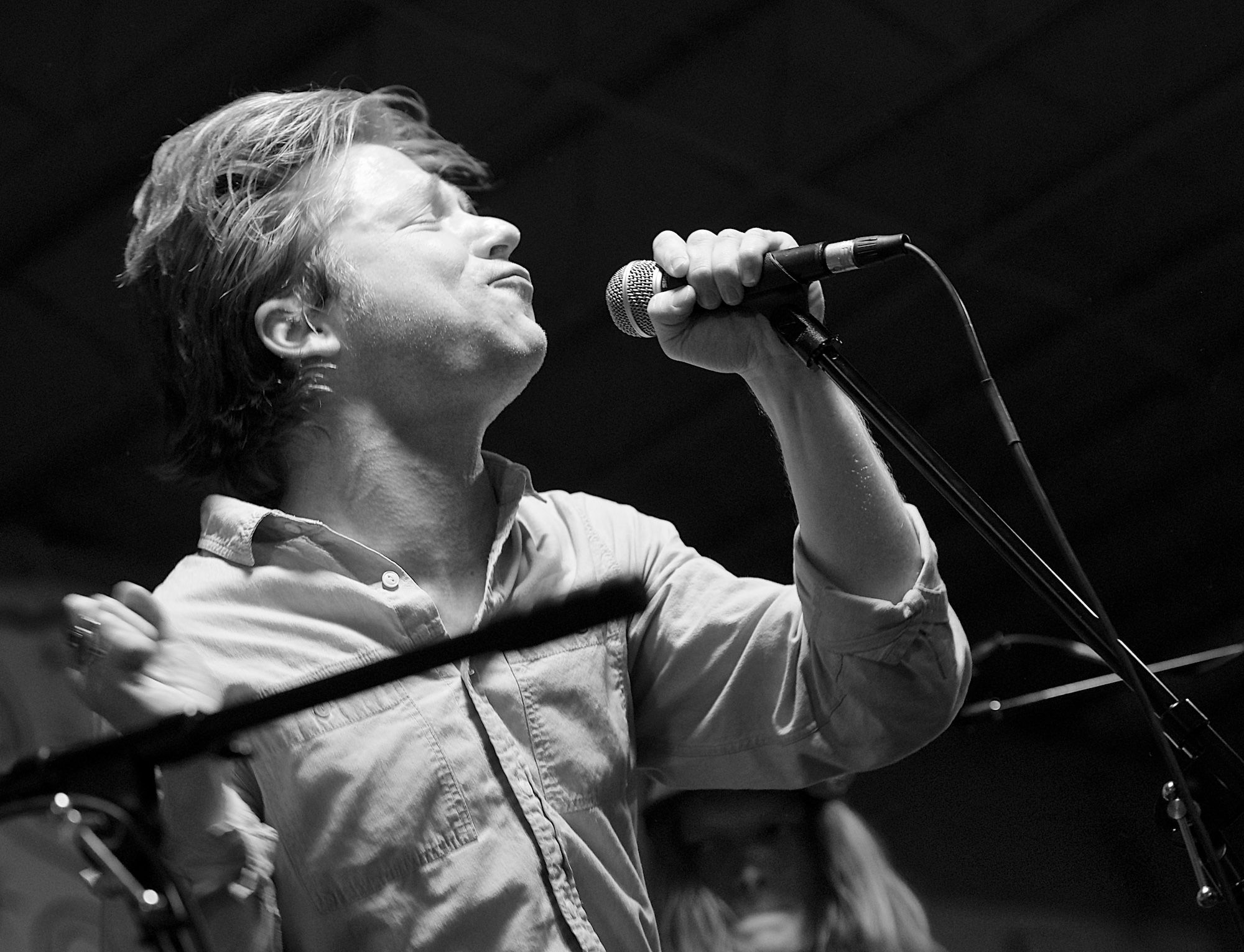 Matt Shultz performs with Cage the Elephant at Cactus Music. November 1, 2013