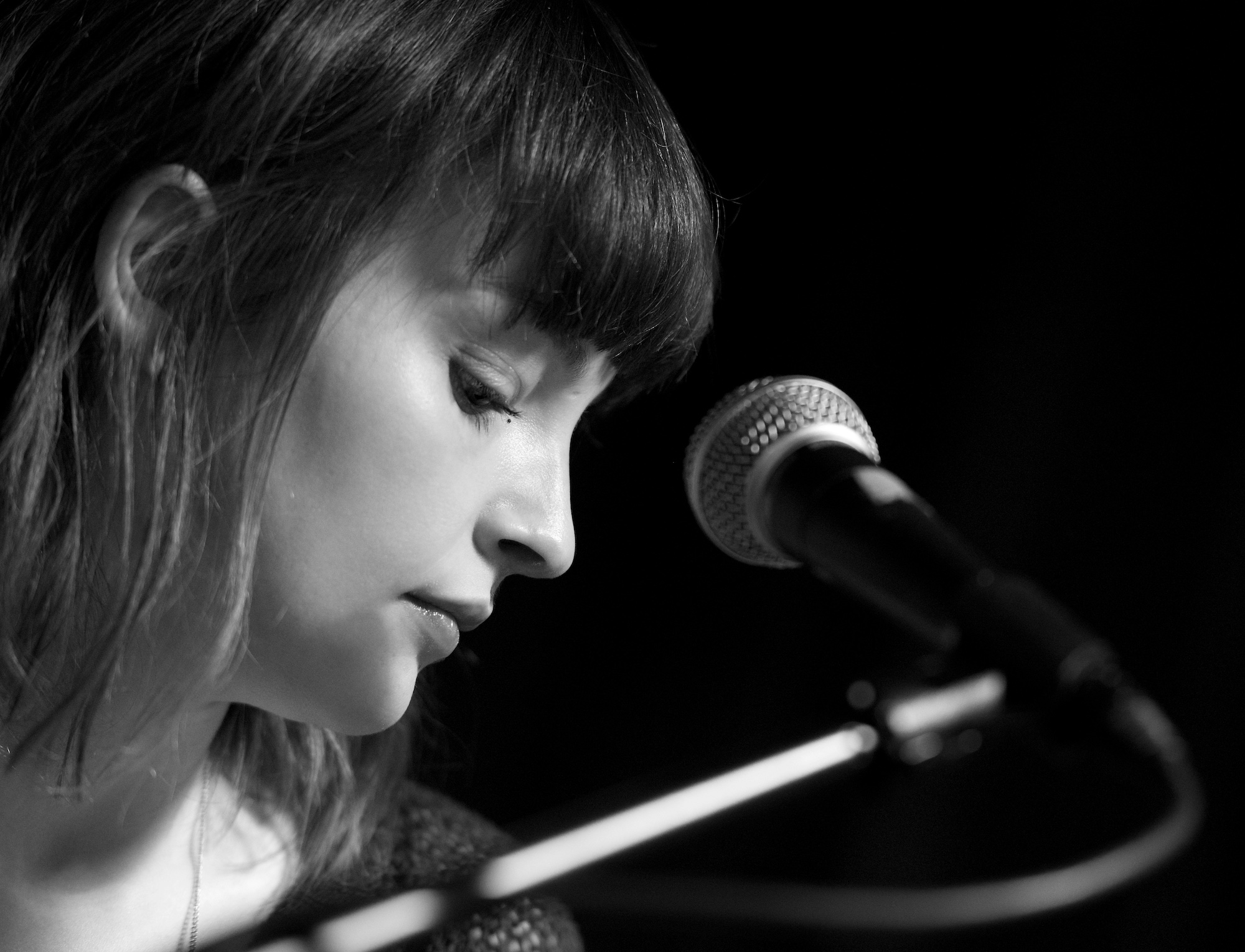 Lauren Mayberry performs with CHVRCHES at Cactus Music. November 24, 2013