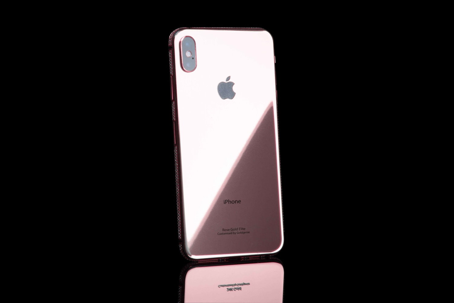 Rose Gold Iphone Xs And Xs Max Swarovski Brilliance Wrapped In Gold