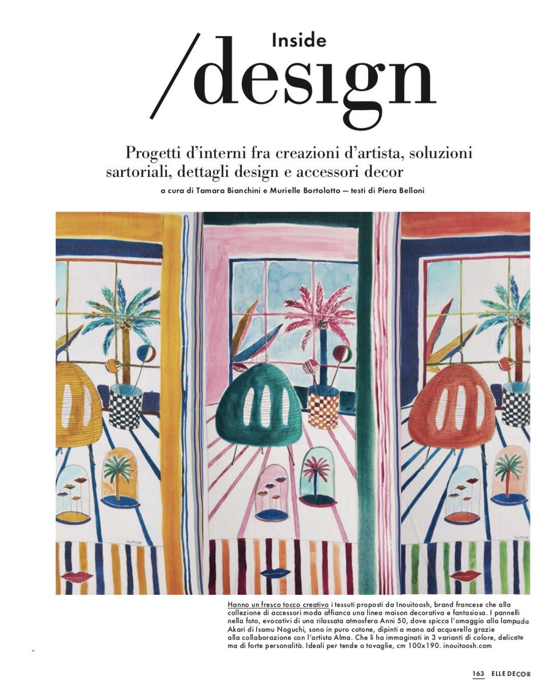 Elle Decor Italia - Janvier 2019  Parution de dessins pour la marque Inouitoosh