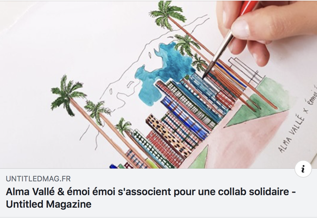 https://untitledmag.fr/alma-valle-emoi-emoi-sassocient-pour-une-collab-solidaire/?fbclid=IwAR0xSM6JpAEVhZZUOQlFm8jwrs-Jh1y--K1GJ6sIVEcoLDKhY3Tips_NeTk