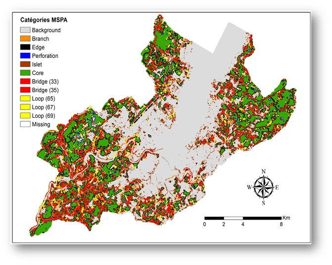 Figure 4 – Structure des milieux naturels du paysage (Huguenin, 2015)