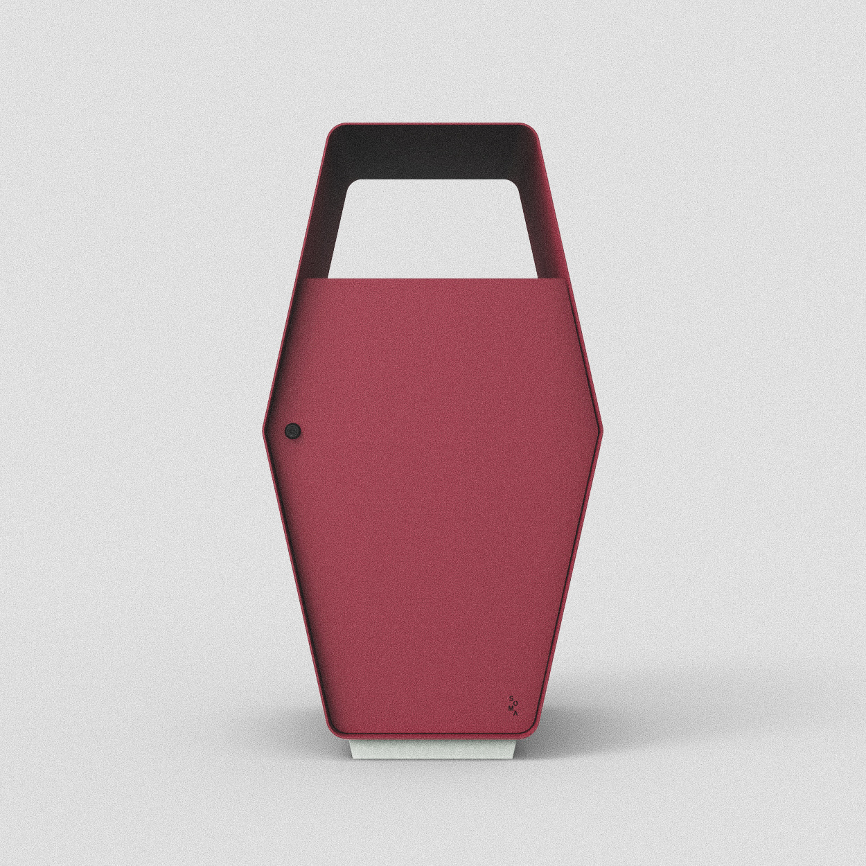 Inkast: Restavfall alt. kompost / Standardfärg: Lingon