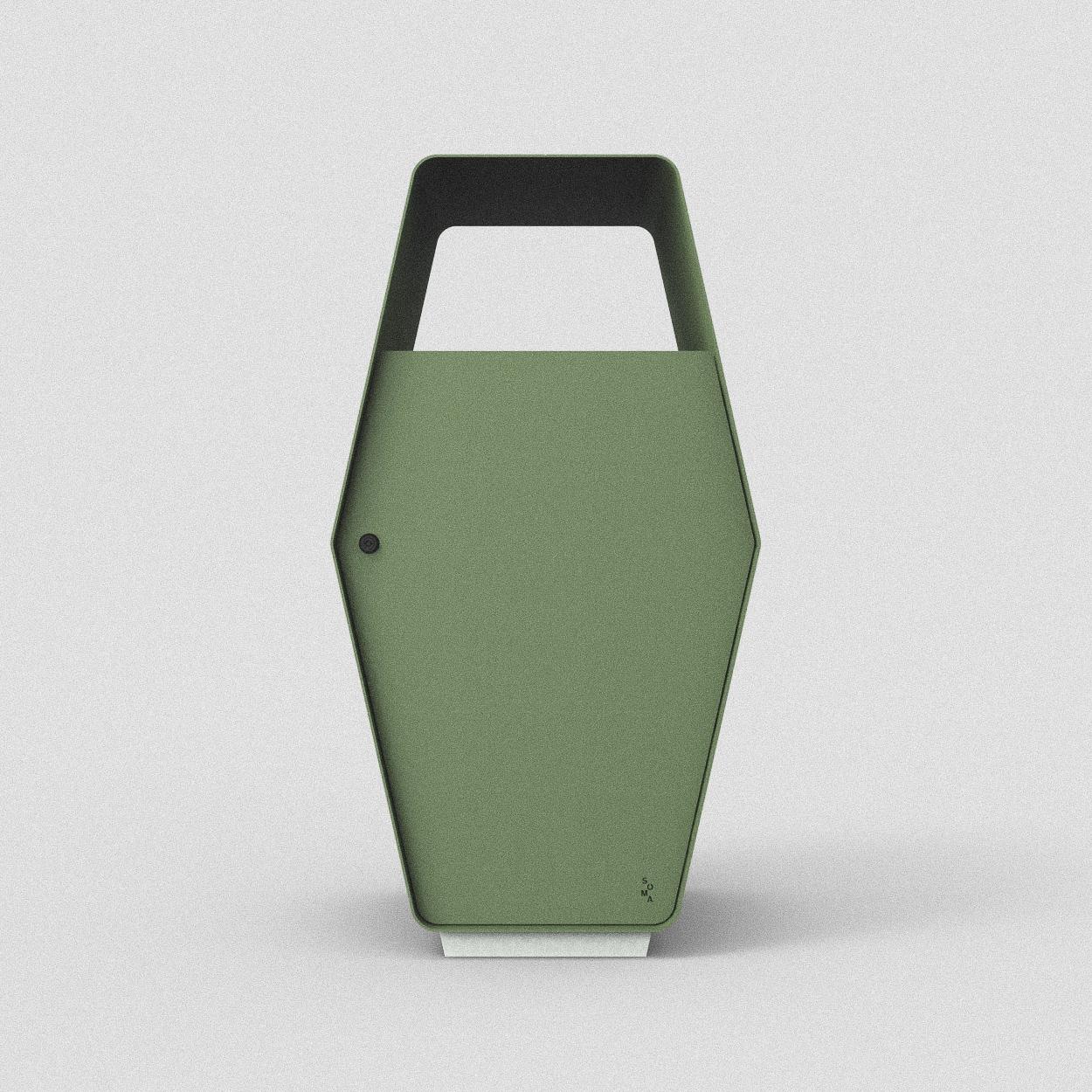 Inkast: Restavfall alt. kompost / Standardfärg: Mossa