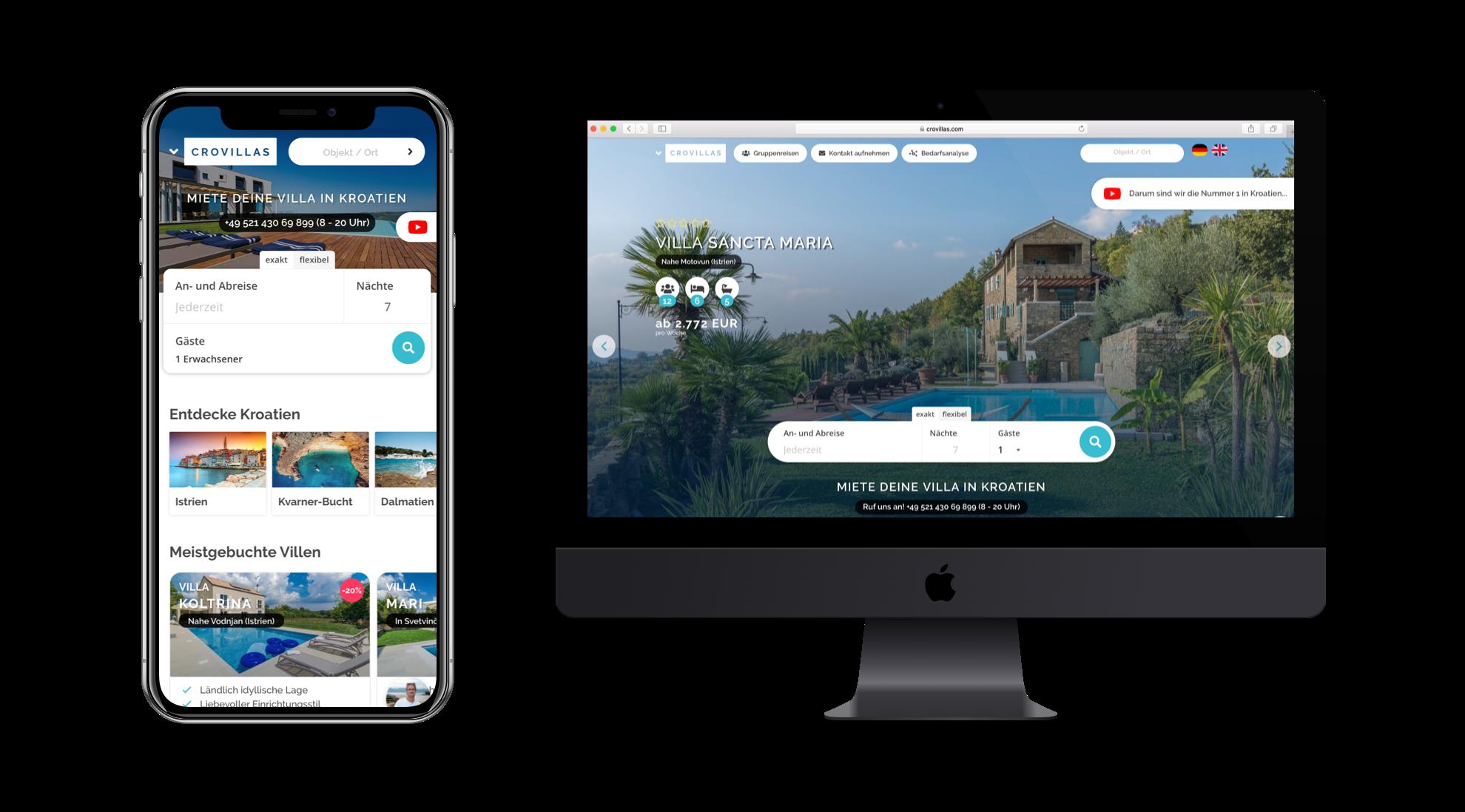 Überzeugt? - Buche jetzt deine Urlaubsvilla in Kroatien bei Deutschlands #1✔ Mehr als 250 persönlich geprüfte Objekte✔ 99% Kundenzufriedenheit mit über 13.000 Urlaubern✔ 24 Stunden persönliche Live-Beratung mit Kroatien-Experten