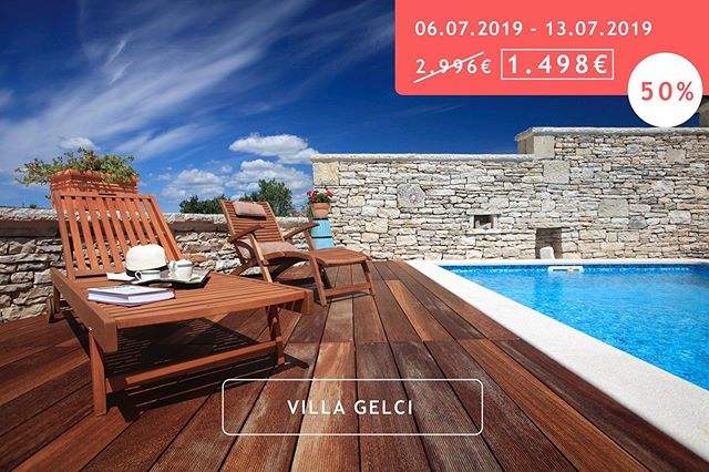 💥 Sowas hat es selten gegeben: Wir bieten euch 50% Rabatt (!) auf die Villa Gelci! Link in Bio. #sale #crovillas #istrien #urlaub #urlaub2018 #kroatienliebe #kroatien2019 #urlaubsreif #holiday #croatia #luxurylifestyle #villa #pula #istria #croatialove #croatian #pool #adriatic #timeoutcroatia #luxurylife #croatiafulloflife #crovillas #urlaubsreif