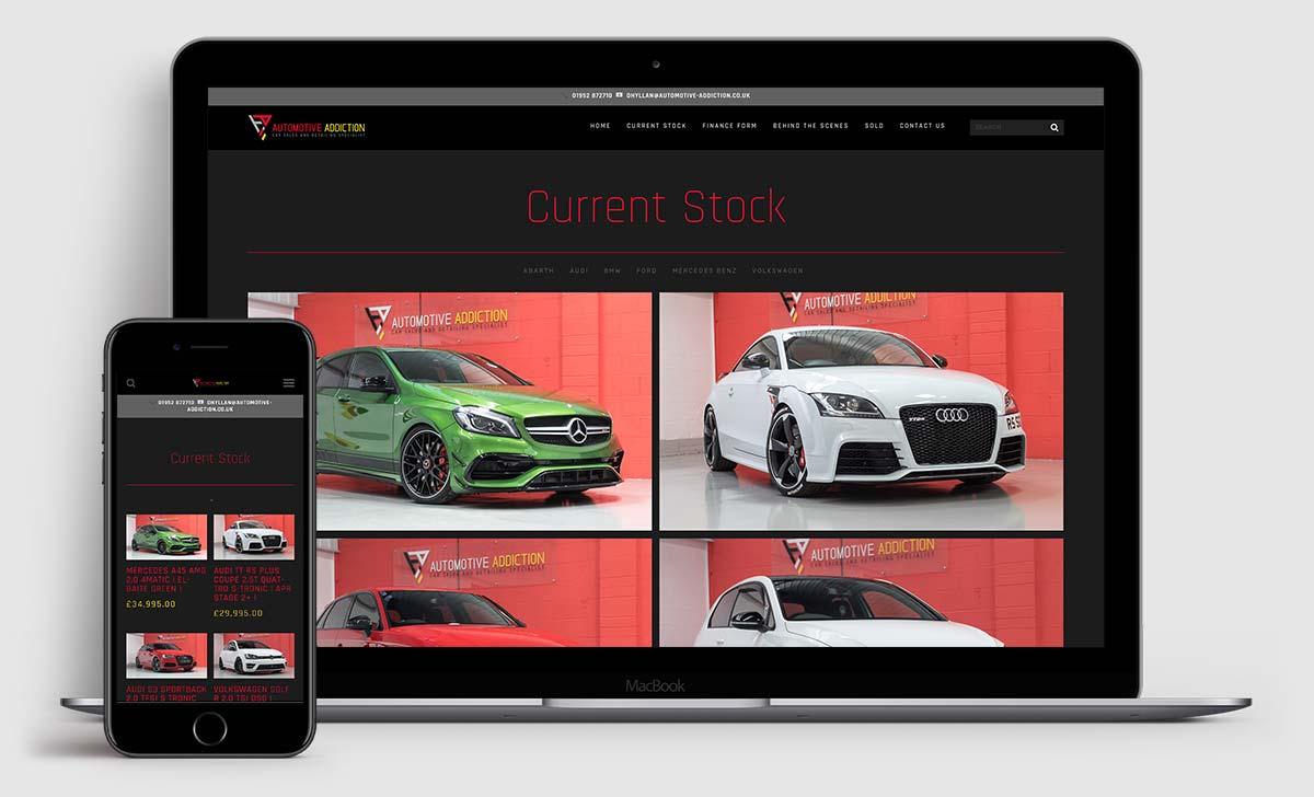 www.automotive-addiction.co.uk - Brochure site