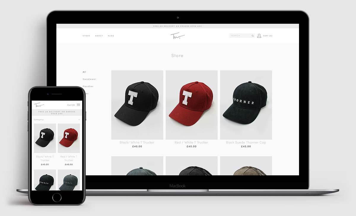 www.thorner.co - e-commerce