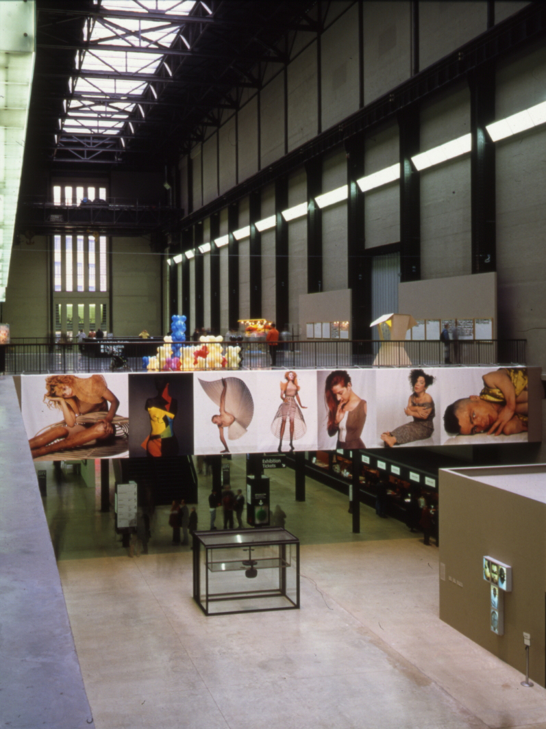 "Nick Knight in the Tate Modern's ""Century City"" Exhibition in 2001. Photo courtesy Tate. © Tate 2015"