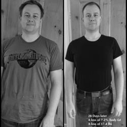 - I lost 17. 4 lbs and 7.2% body fat in just 4 weeks!! And it was easy, I feel motivated and fit every day. The programme at G.I.T.P. taught me how to maintain my progress. I would truly recommend this to anyone wanting to change their lifestyle for the better.- Peter