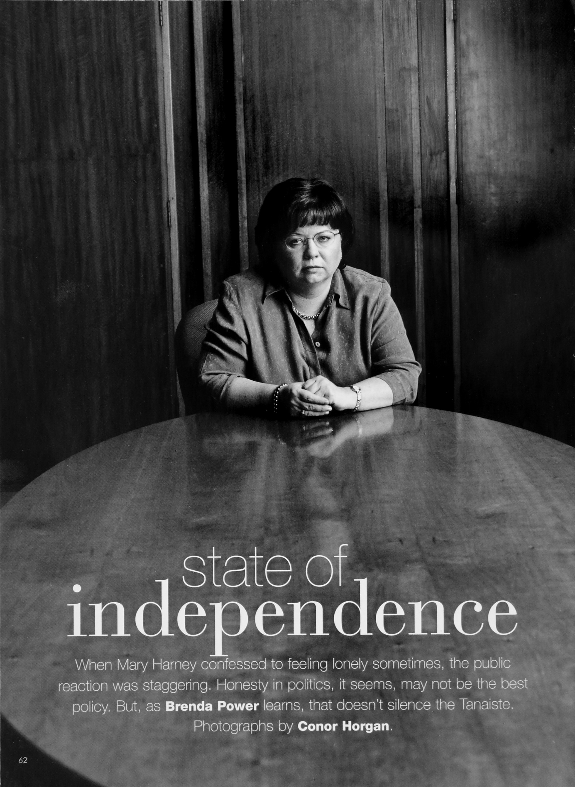 Mary Harney, leader of the Progressive Democrats, for Image Magazine.
