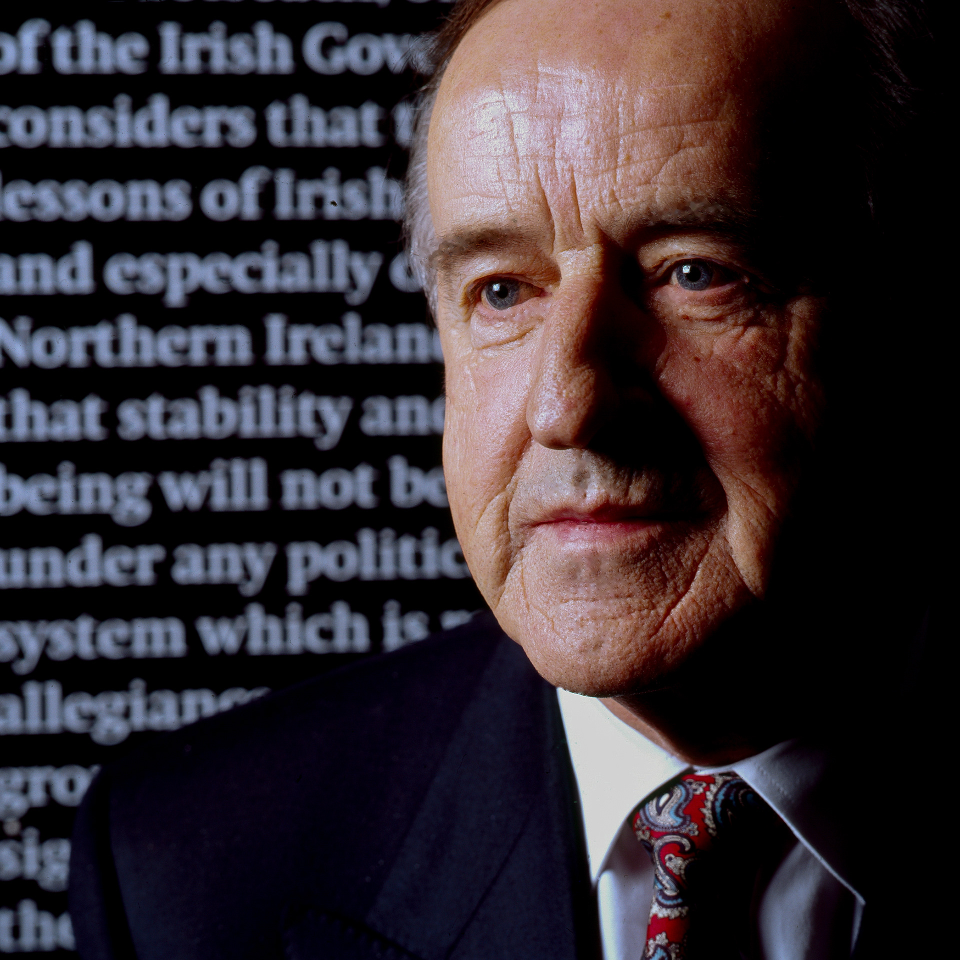 Albert Reynolds, 9th Taoiseach of Ireland, for the Sunday Tribune.