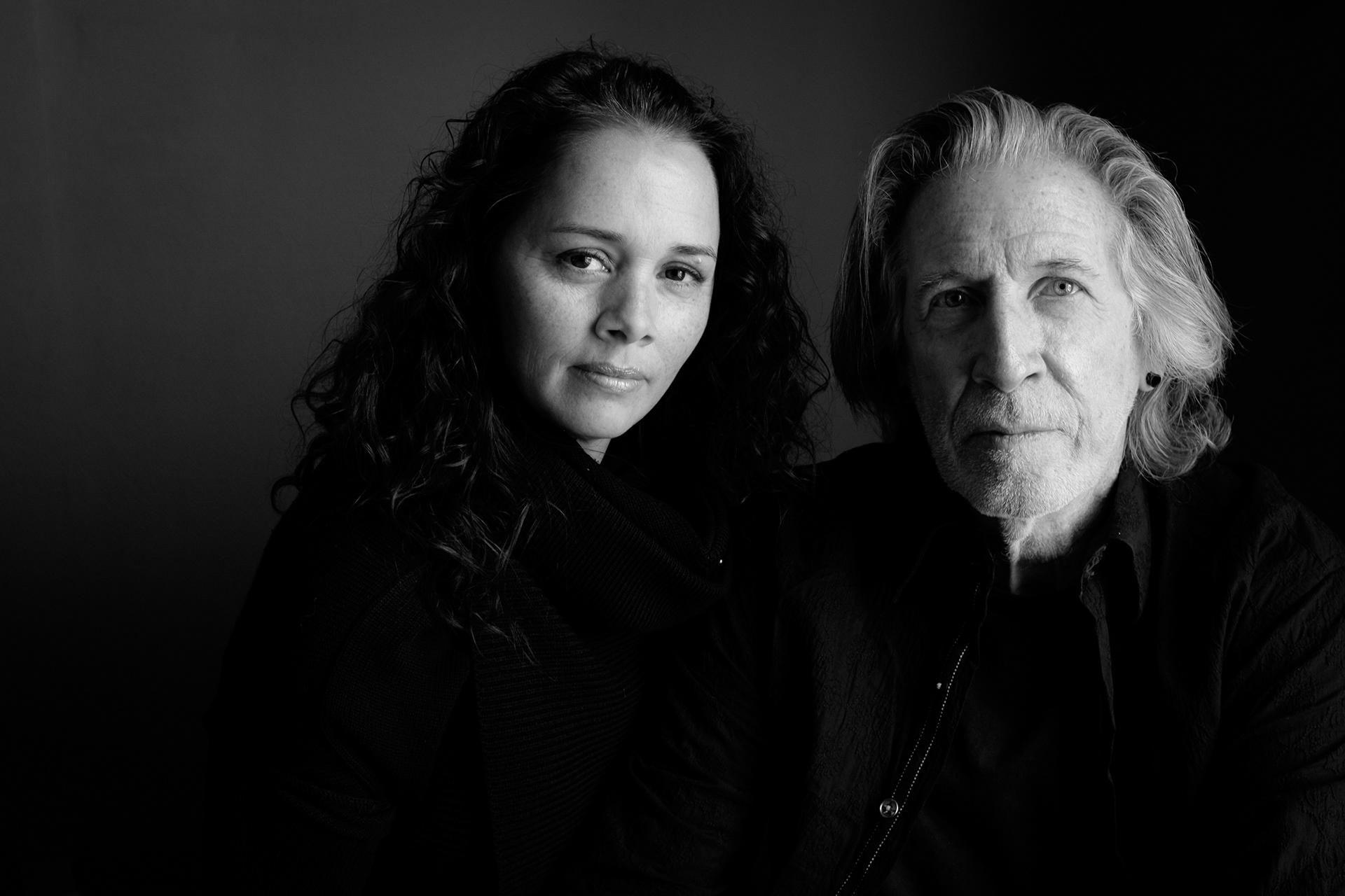 Larissa Fasthorse, playwright, with her husband Edd Hogan.