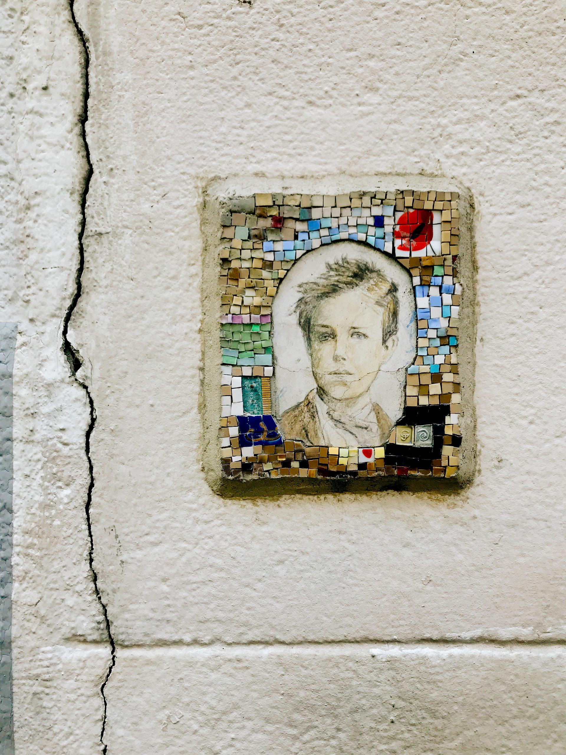 Tribute to Arthur Rimbaud in Montmartre.