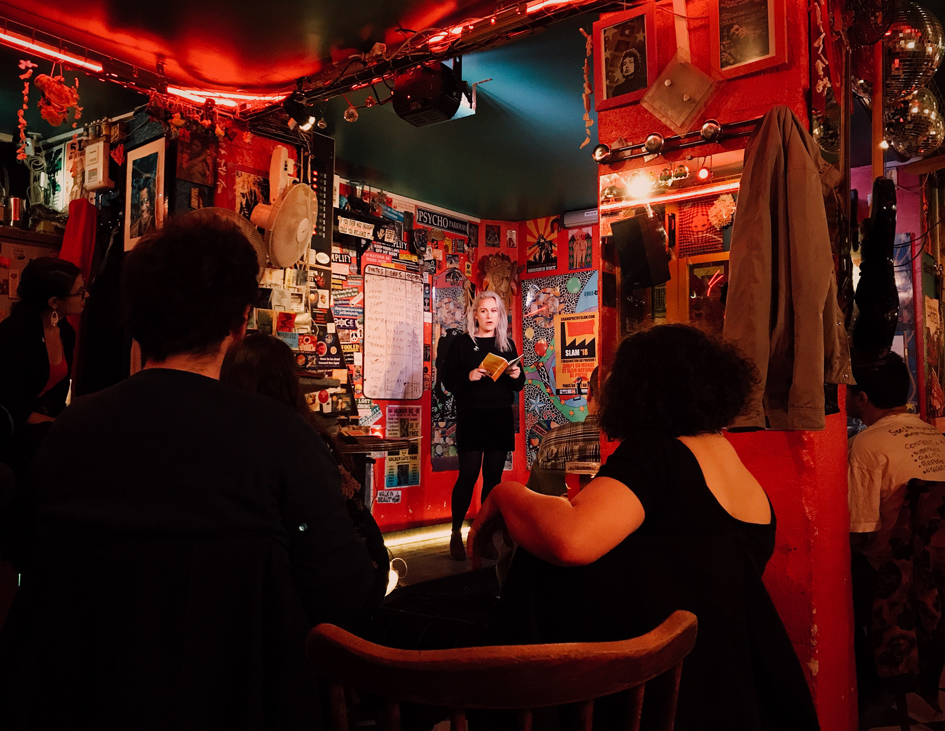 Irish poet Ingrid Casey gives a reading at Cabaret Populaire.