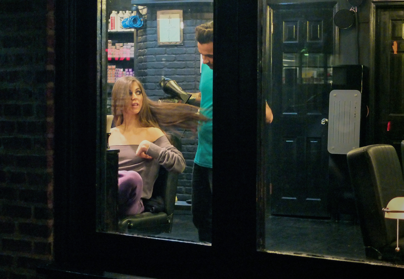 Hairdresser on Hudson St.