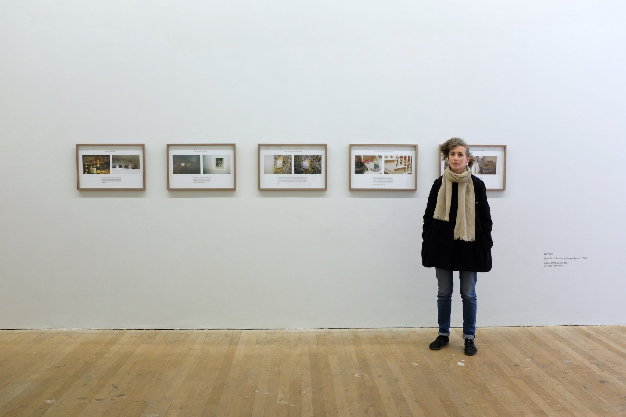 Lian in the Glucksman yesterday, photographed by her proud father.