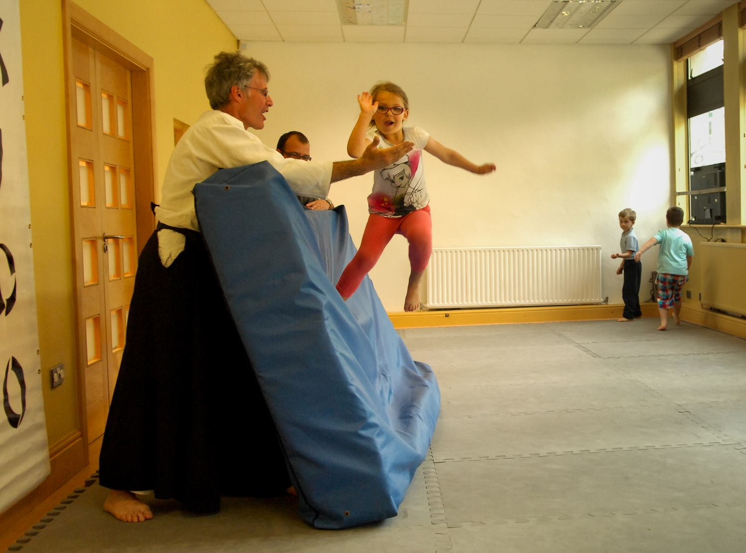 Kid's class at the Irish Aikido Association, Cuffe Street, Dublin.
