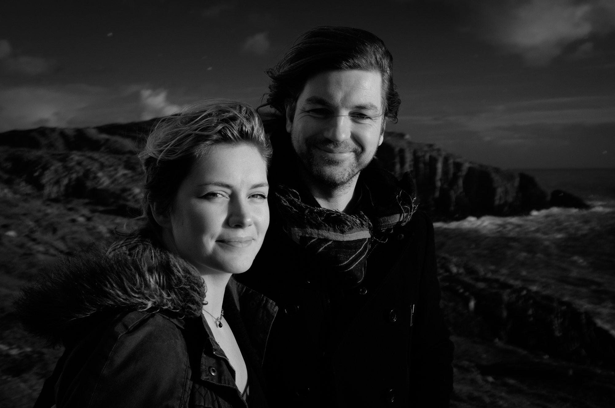 Alicia Ni Ghrainne and Michael Kinirons outside Baltimore, West Cork.