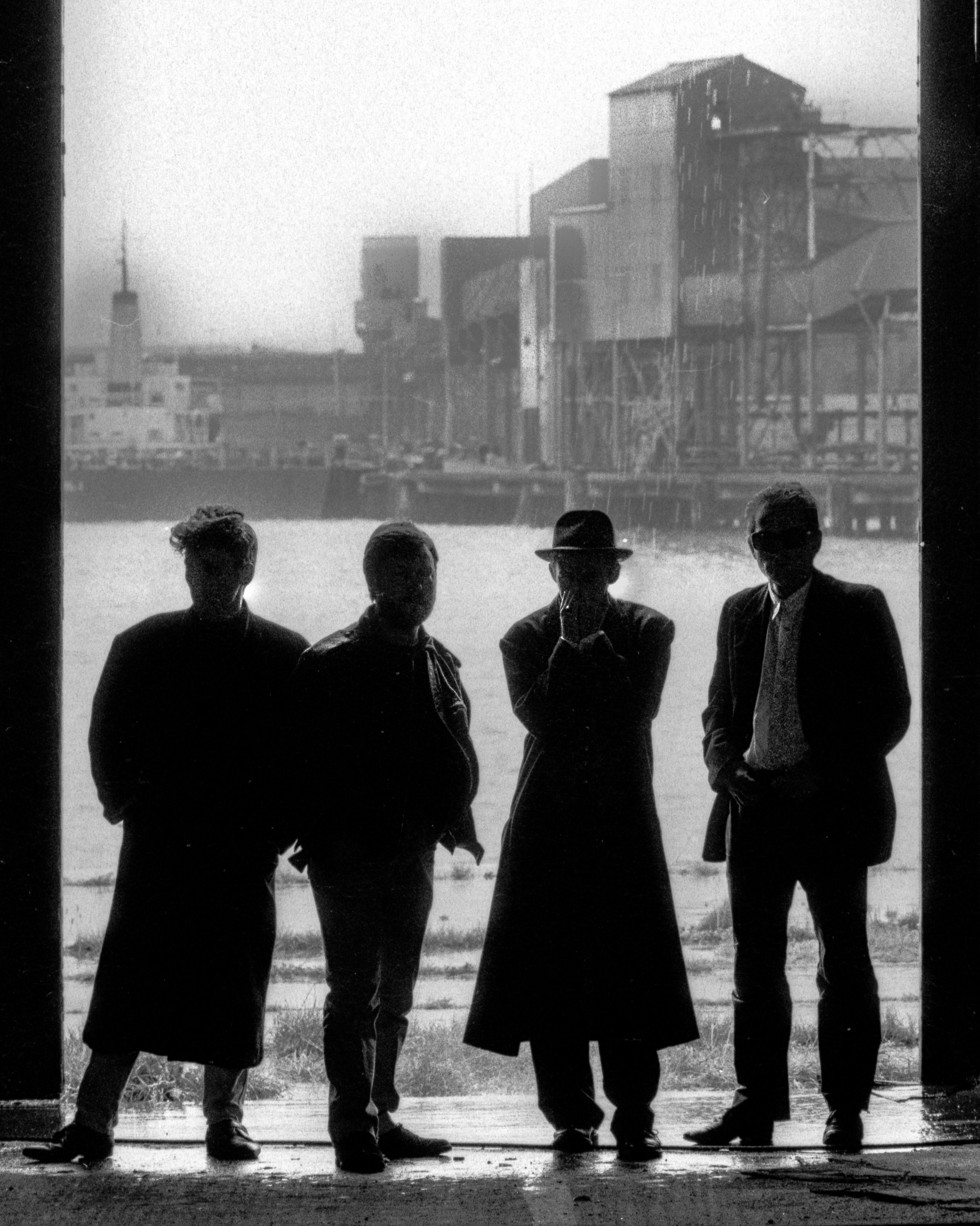 """Cover shot for the re-issue of """"Ghostown"""". You can see the rain in the background."""