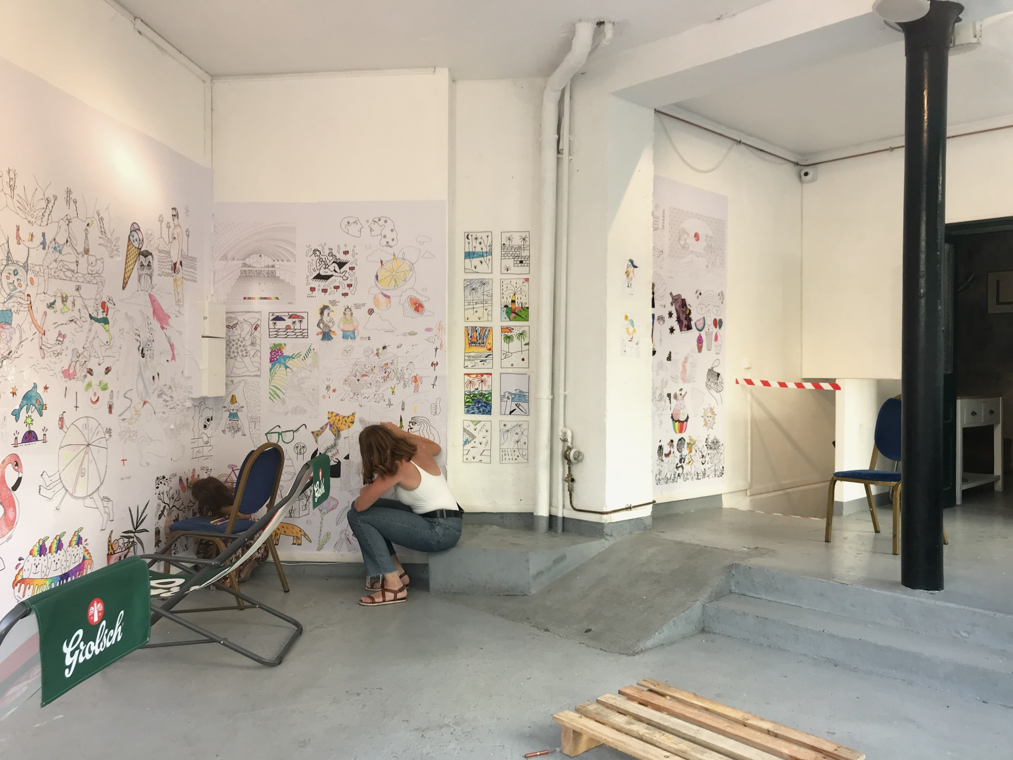 Colouring-in exhibition at Le Floreal Belleville
