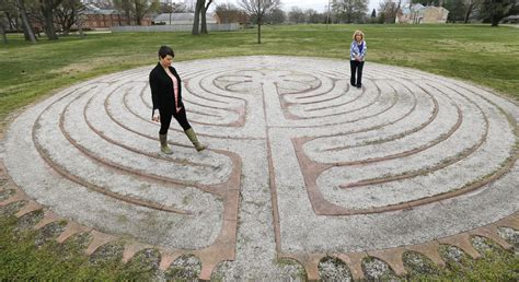 Our labyrinth on the  Northside . Join us for a candlelit walk on the evening of the winter solstice, and again - in the broad daylight of the evening - on the summer solstice!